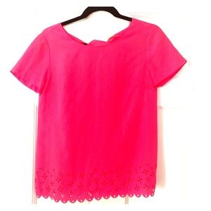 JCrew Blouse Hot Pink